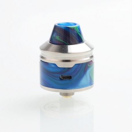 Authentic Aleader Rocket RDA Rebuildable Dripping Atomizer - Blue, SS + Resin, 24mm Diameter
