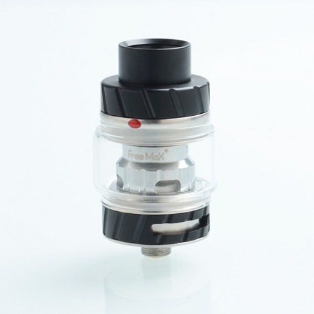 Authentic FreeMax Fireluke 2 Metal Sub Ohm Tank Clearomizer - Black, Stainless Steel + Pyrex, 5ml, 0.2ohm, 28mm Diameter