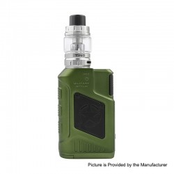 Authentic Tesla P226 220W TC VW Variable Wattage Box Mod + Tind Tank Kit - Green, 7~220W, 2 x 18650, 4.5ml