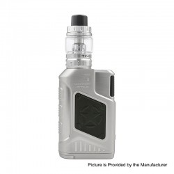 Authentic Tesla P226 220W TC VW Variable Wattage Box Mod + Tind Tank Kit - Silver, 7~220W, 2 x 18650, 4.5ml
