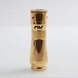 AV Workman Style Hybrid Mechanical Mod - Brass, Brass, 1 x 18650, 28mm Diameter
