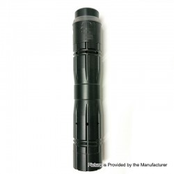 Aftermath V2 Style Mechanical Mod + Redemption Style RDA Kit - Black, Brass + Stainless Steel, 1 x 18650, 24mm Diameter