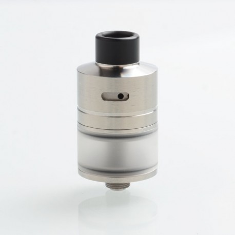 SXK WICK'T Style RDTA RSTA Rebuildable Dripping Tank Atomizer w/ BF Pin - Silver, 316 Stainless Steel, 3ml, 22mm Diameter