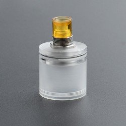Replacement Short Tank + Drip Tip Set for FOUR ONE FIVE 415 RTA - Translucent, 2.0mL