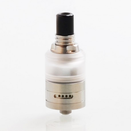 SXK Caiman BF MTL Style RTA Rebuildable Tank Atomizer - Silver, 316 SS + PC, 2ml, 22mm Diameter