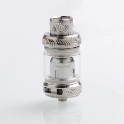 Authentic Freemax Mesh Pro Sub-Ohm Tank Clearomizer - Silver, SS + Glass, 5 / 6ml, 25mm Diameter