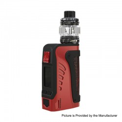Authentic Wismec Reuleaux Tinker 2 200W TC VW Waterproof Box Mod + Trough Tank Atomizer Kit - Red, 1~200W, 0.35ohm, 6.5ml