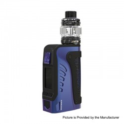 Authentic Wismec Reuleaux Tinker 2 200W TC VW Waterproof Box Mod + Trough Tank Atomizer Kit - Blue, 1~200W, 0.35ohm, 6.5ml