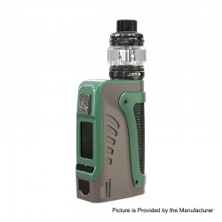 Authentic Wismec Reuleaux Tinker 2 200W TC VW Waterproof Box Mod + Trough Tank Atomizer Kit - Grey, 1~200W, 0.35ohm, 6.5ml