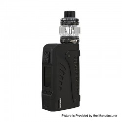 Authentic Wismec Reuleaux Tinker 2 200W TC VW Waterproof Box Mod + Trough Tank Atomizer Kit - Black, 1~200W, 0.35ohm, 6.5ml