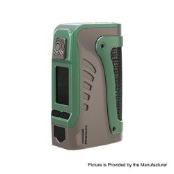 Authentic Wismec Reuleaux Tinker 2 200W TC VW Variable Wattage Waterproof Box Mod - Grey, 1~200W, 2 x 18650