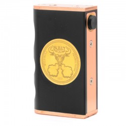 Kindbright Bully Style Mechanical Box Mod - Black, Delrin + Copper, 2 x 18650