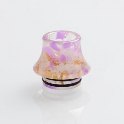 810 Replacement Drip Tip for TFV8 / TFV12 Tank / 528 Goon / Kennedy / Reload RDA - Purple Gold, Resin, 16.1mm, Glow-in-the-Dark