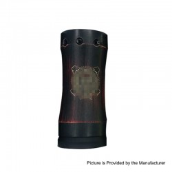 Takeover Mini Style Hybrid Mechanical Mod - Black Red, Brass, 1 x 18350