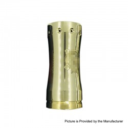 Takeover Mini Style Hybrid Mechanical Mod - Brass, Brass, 1 x 18350