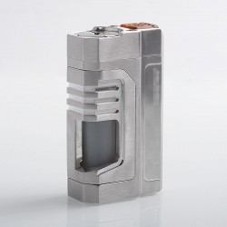 Kindbright Reactor Style Squonk Mechanical Box Mod - Silver, Aluminum Alloy, 1 x 18650, 8ml