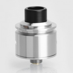 Kindbright Le Concorde Style RDA Rebuildable Dripping Atomizer w/ BF Pin - Silver, 316 Stainless Steel, 22mm Diameter