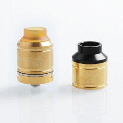 Kindbright Sherman Style RDA Rebuildable Dripping Atomizer w/ BF Pin - Gold, 316 Stainless Steel, 25mm Diameter