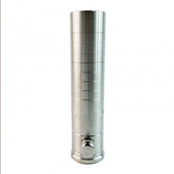 Kindbright VG Mini V2.5 Style Stacked Mechanical Tube Mod - Silver, 316 Stainless Steel, 2 x 18350 / 1 x 18500 / 18650