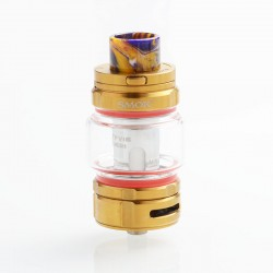 Authentic SMOKTech SMOK TFV16 Sub Ohm Tank Atomizer Standard Edition - Golden, Stainless Steel, 9ml, 0.17ohm, 32mm Diameter