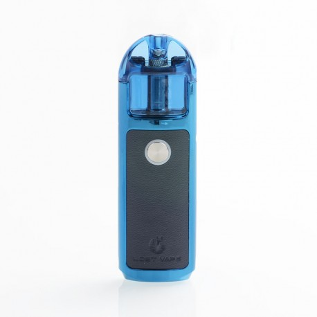 Authentic Lost Vape Lyra 1000mAh 20W Pod System Starter Kit - Blue, PU Leather, 2ml, 1.4ohm