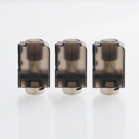 Authentic Asvape Micro Pod Kit Replacement Pod Cartridge - Black, 2ml, 0.5 / 1.0ohm (3 PCS)