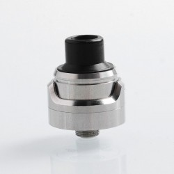 Kindbright AirLab Style RDA Rebuildable Dripping Atomizer w/ BF Pin - Silver, 316 Stainless Steel, 22mm Diameter