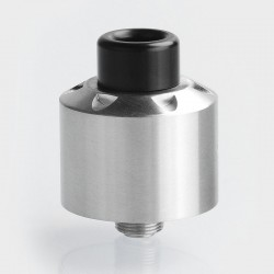 Kindbright Hussar Style RDA V1.0 Rebuildable Dripping Atomizer w/ BF Pin - Silver, 316 Stainless Steel, 22mm Diameter