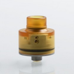 Kindbright Haku Venna Style RDA Rebuildable Dripping Atomizer w/ BF Pin - Yellow,PEI + 316 Stainless Steel, 22mm Diameter
