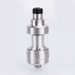Kindbright KF Prime Style RTA Rebuildable Tank Atomizer w/ Spare Tube - Silver, 316 Stainless Steel, 2ml, 22mm Diameter