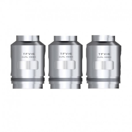 Authentic SMOKTech SMOK Replacement Dual Mesh Coil for TFV16 Tank- Silver, Nickel-chrome, 0.12ohm (80~160W) (3 PCS)