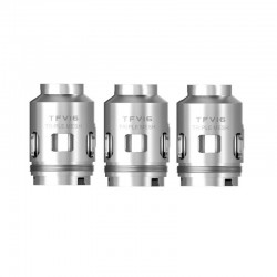 Authentic SMOKTech SMOK Replacement Triple Mesh Coil for TFV16 Tank- Silver, Nickel-chrome, 0.15ohm (90W) (3 PCS)