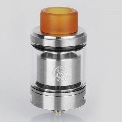 Authentic Wotofo Serpent SMM RTA Rebuildable Tank Atomizer - Silver, Stainless Steel, 4ml, 24mm Diameter