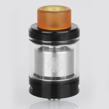 Authentic Wotofo Serpent SMM RTA Rebuildable Tank Atomizer - Black, Stainless Steel, 4ml, 24mm Diameter