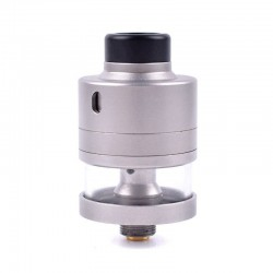 Haku Riviera Style RDTA Rebuildable Dripping Tank Atomizer w/ BF Pin - Silver, 24mm Diameter, 316 Stainless Steel