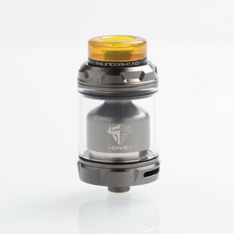 Authentic ThunderHead Creations THC Tauren One RTA Rebuildable Tank Atomizer - Gun Metal, 2.0 / 4.5ml, 24mm Diameter