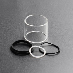 Authentic Vapesoon Replacement Tank Tube + Seal O-Rings for Uwell Nunchaku Sub Ohm Tank - Transparent, Glass + Silicone