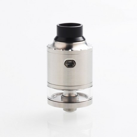 YFTK Hellfire Maverick Tank Style RDTA Rebuildable Dripping Tank Atomizer w/ BF Pin - Silver, 316SS, 2ml, 22mm Diameter