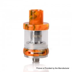 Authentic FreeMax Neutron Star Sub-Ohm Tank Atomizer - Yellow, Glass + Resin, 2ml, 0.25ohm / 0.5ohm, 22mm Diameter