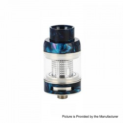 Authentic FreeMax Neutron Star Sub-Ohm Tank Atomizer - Blue, Glass + Resin, 2ml, 0.25ohm / 0.5ohm, 22mm Diameter