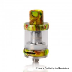 Authentic FreeMax Neutron Star Sub-Ohm Tank Atomizer - Green, Glass + Resin, 2ml, 0.25ohm / 0.5ohm, 22mm Diameter