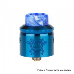 Authentic MECHLYFE x AmbitionZ Vaper Slatra Mesh RDA Rebuidable Atomizer w/ BF Pin - Blue, Stainless Steel, 25mm Diameter