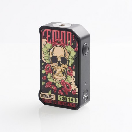 Authentic Dovpo MVV M VV II 280W VV Variable Voltage Box Mod - Skull & Roses, PC + Zinc Alloy, 1~8V, 2 x 18650
