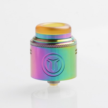 Authentic Yachtvape Meshlock RDA Rebuildable Dripping Atomizer w/ BF Pin - Rainbow, Stainless Steel + Resin, 24mm Diameter