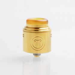 Authentic Yachtvape Meshlock RDA Rebuildable Dripping Atomizer w/ BF Pin - Gold, Stainless Steel, 24mm Diameter
