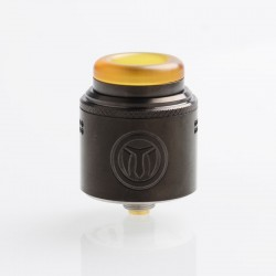 Authentic Yachtvape Meshlock RDA Rebuildable Dripping Atomizer w/ BF Pin - Gun Metal, Stainless Steel, 24mm Diameter