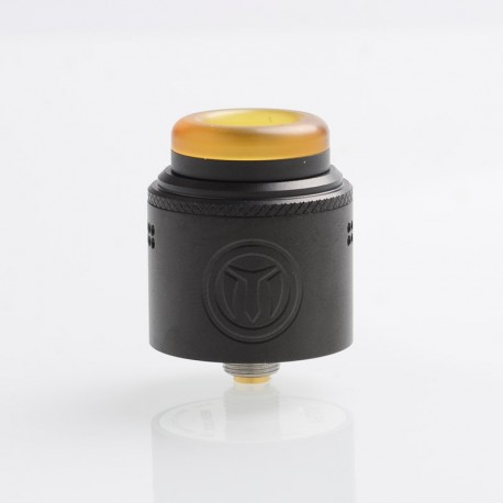 Authentic Yachtvape Meshlock RDA Rebuildable Dripping Atomizer w/ BF Pin - Matte Black, Stainless Steel, 24mm Diameter