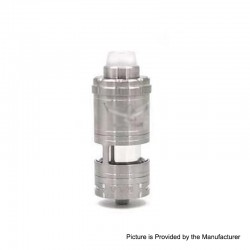 Vapor Giant VG V6M Style RTA Rebuildable Tank Atomizer - Silver, Stainless Steel, 7.5ml, 25mm Diameter