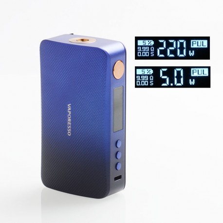 Authentic Vaporesso GEN 220W TC VW Variable Wattage Box Mod - Blue, 5~220W, 2 x 18650