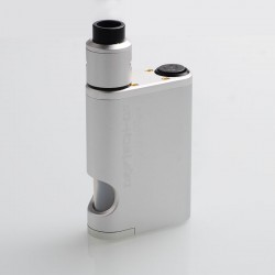 Driptech-DS Style Mechanical Squonk Box Mod + Goon 1.5 Style RDA Kit - Silver, 8ml, 2 x 18650, 24mm Diameter